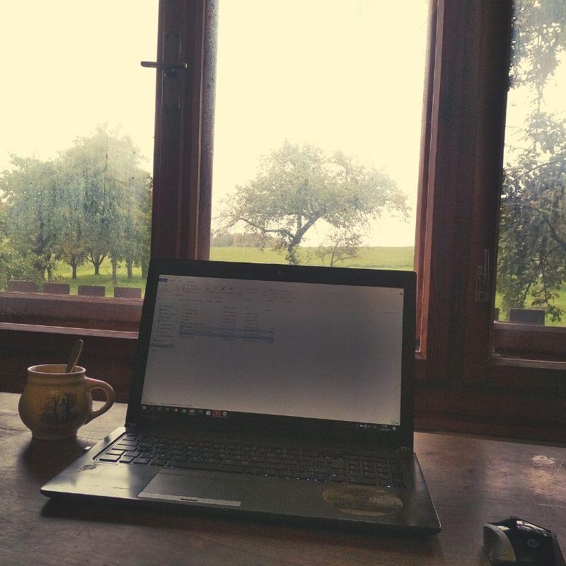 pracovna v zahradě